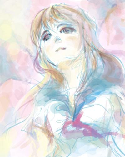 セーラ服少女 桜  桜咲いてるねー あいた時間で落書きしてみたよ。 イベント情報UP-コミ...